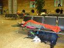 5396 - Sandra tijdens overnachting op luchthaven - Cairo